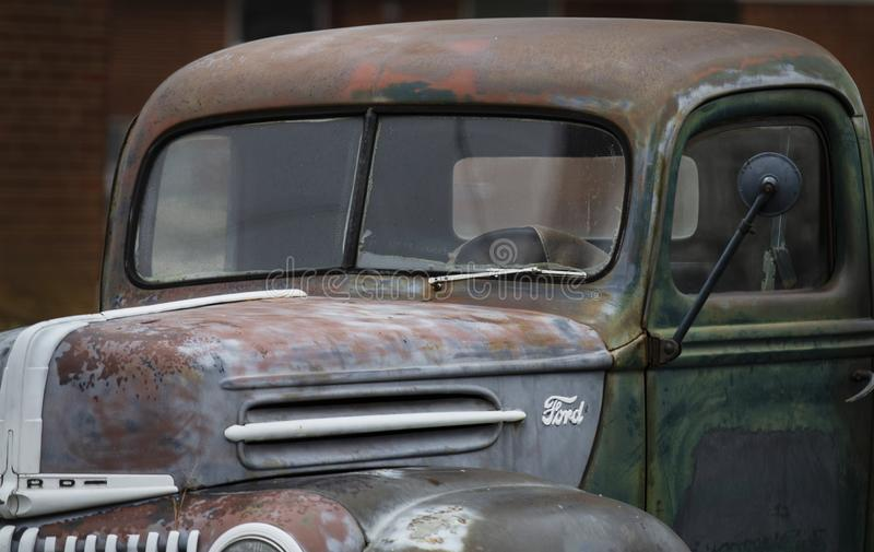 Antique Ford Pickup Truck closeup royalty free stock photography