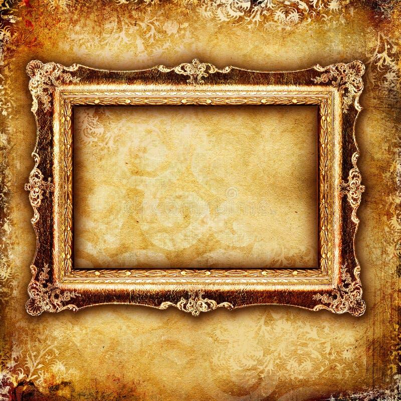 Antique frame stock illustration