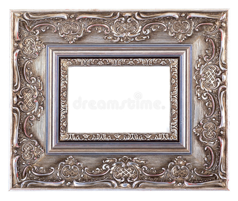 Antique Frame-15. This is a White Background Antique Frame stock images