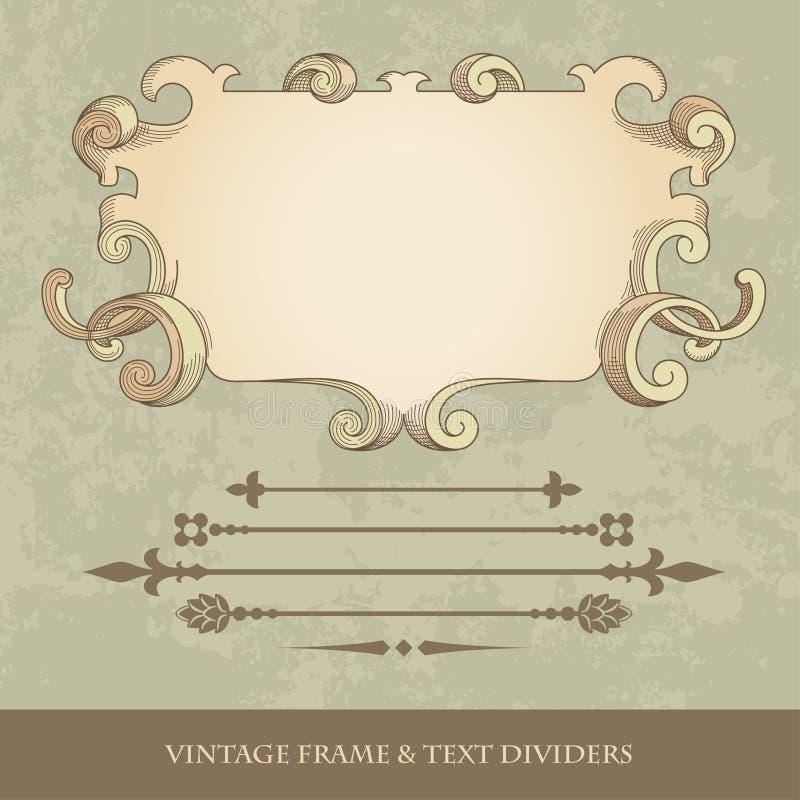 Antique frame royalty free illustration