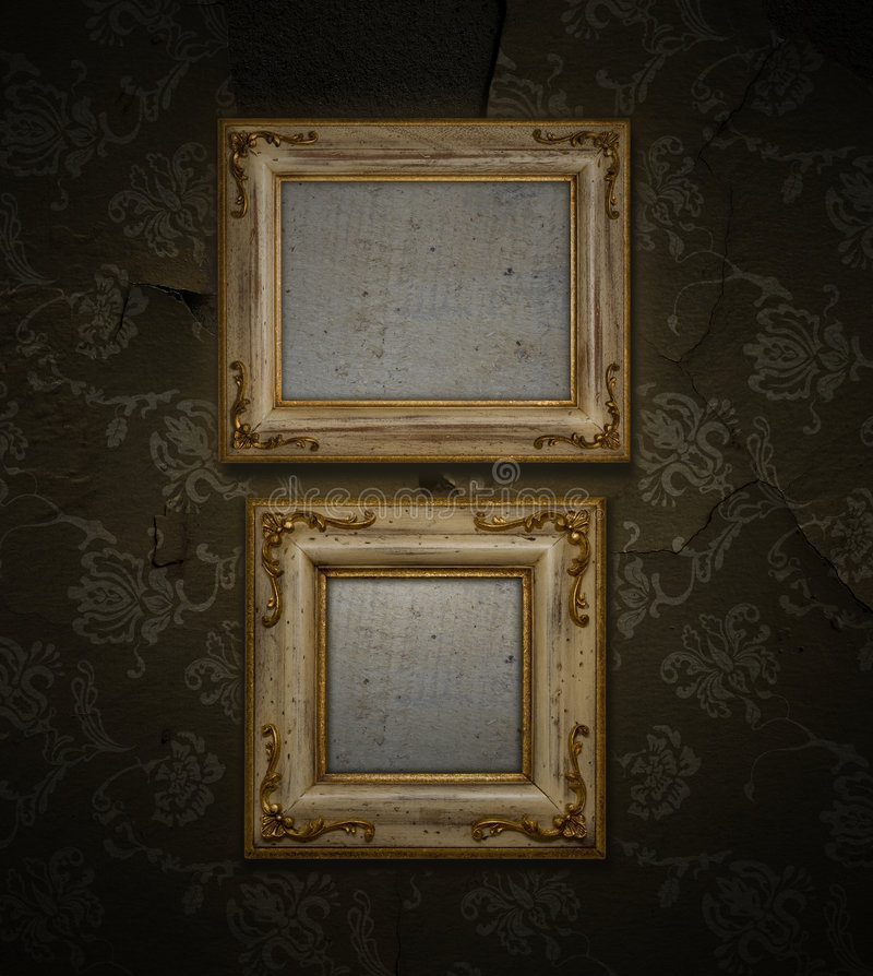 Download Antique frame stock image. Image of distressed, golden - 7043341