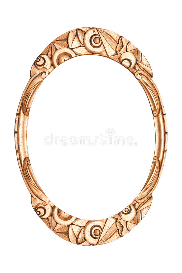 Antique frame art deco stock image