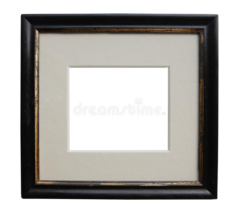 Antique frame art deco. Oval antique frame art deco, vintage item isolated on white background, free picture space royalty free stock photos