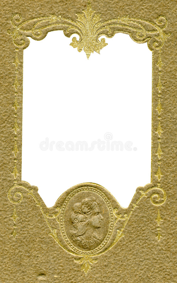 Download Antique frame with cameo stock photo. Image of parchment - 518530