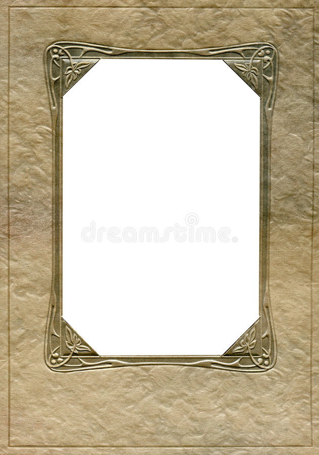 Antique frame and corners royalty free stock photo