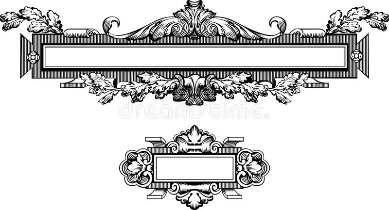 Antique Frame Engraving vector illustration