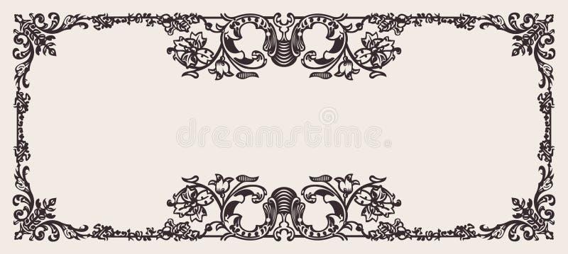 Antique Frame Engraving stock illustration