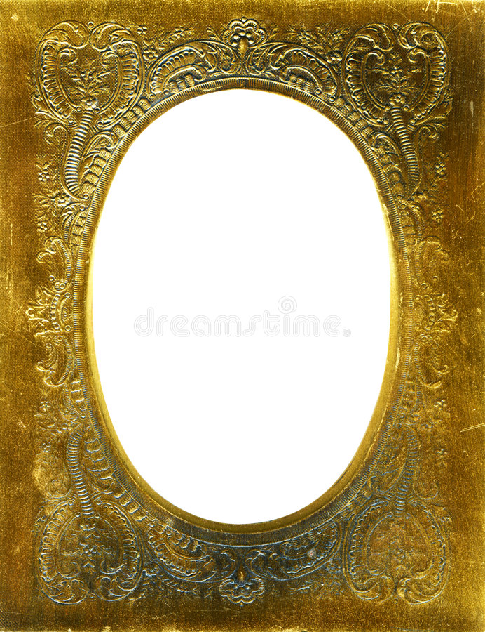 Antique frame with gold mat royalty free stock photos