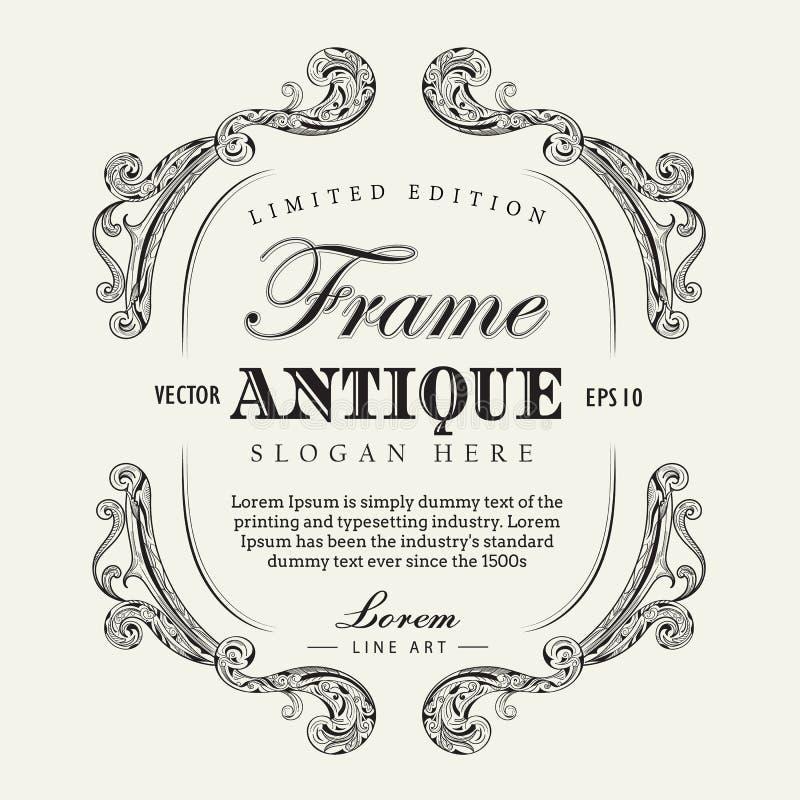 Antique frame hand drawn vintage label banner vector illustration antique frame hand drawn vintage label banner vector illustration stopboris Image collections