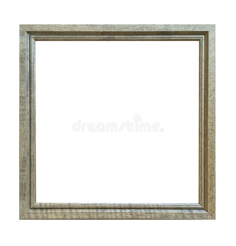 Antique frame isolated on white background with clipping path. royalty free stock photo