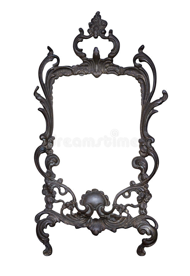 Antique frame isolated on white background with clipping path.European art royalty free stock photo