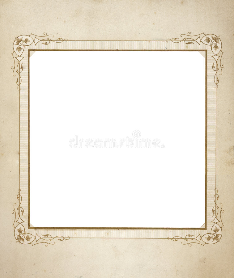 Antique Frame From Mid 1900 S Royalty Free Stock Images