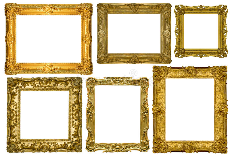 Antique Picture Frames Part - 35: Download Antique Frames Collection Stock Photo. Image Of Image - 6578438