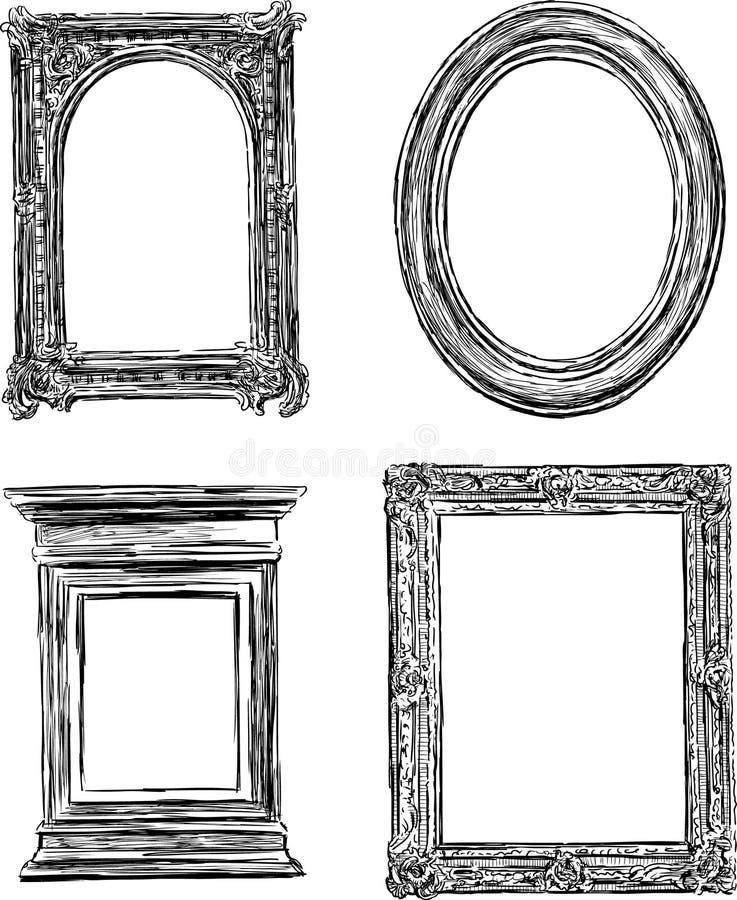 Antique frames stock vector. Illustration of wooden, framework ...
