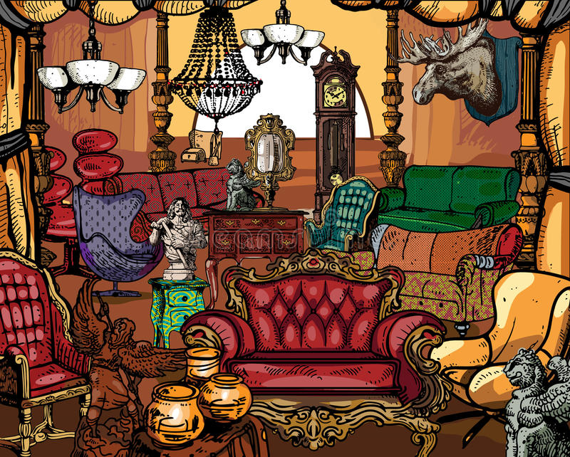 Antique Furniture royalty free illustration