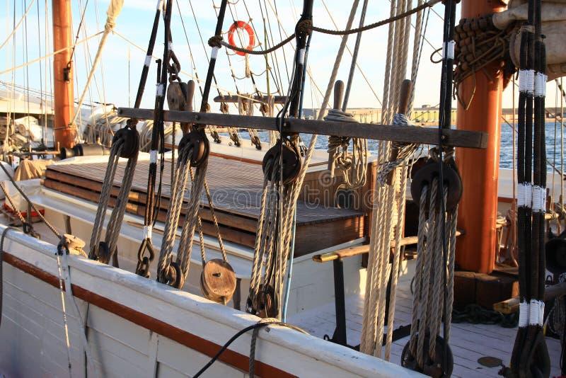 The antique galeon stock photos