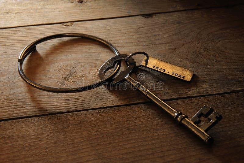 Antique Gaoler's key stock photo