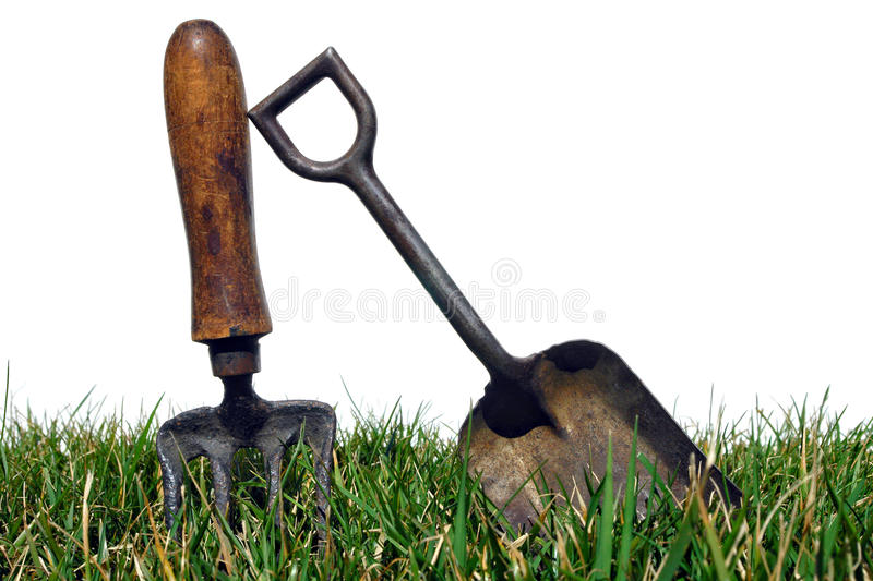 Wonderful Download Antique Gardening Tools In Garden Grass On White Stock Photo    Image Of Garden,