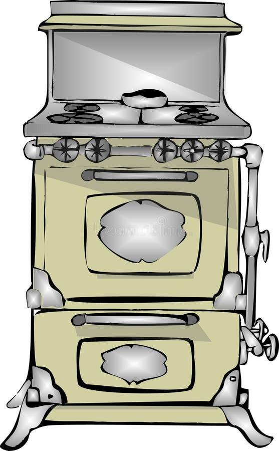 Download Antique gas stove stock illustration. Illustration of valve - 60559