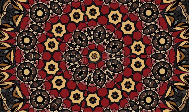 Antique geometric background royalty free illustration