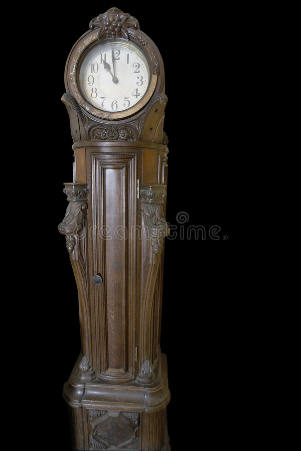 Free Antique German Clock On Black Background Stock Photography - 4690762