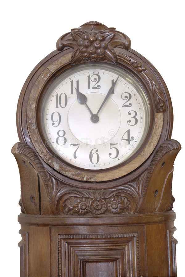 Free Antique German Clock On White Background Stock Photography - 4690882