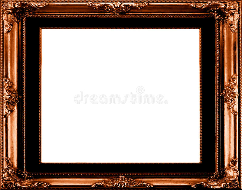 Antique gilt frame royalty free illustration