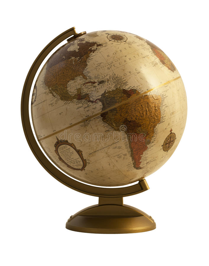 Download Antique globe on white stock photo. Image of southeast - 29881754
