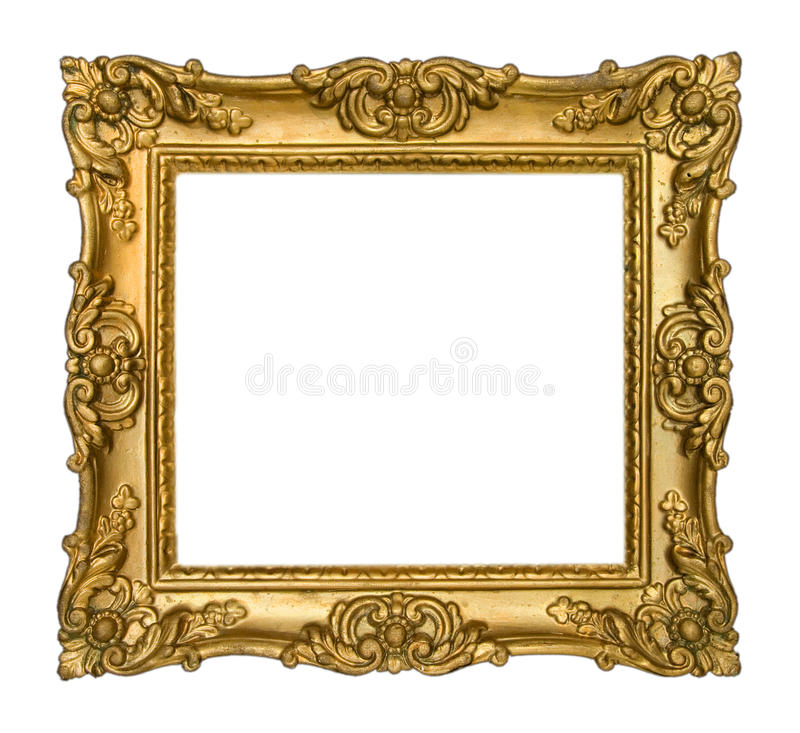 Antique Gold Frame stock image