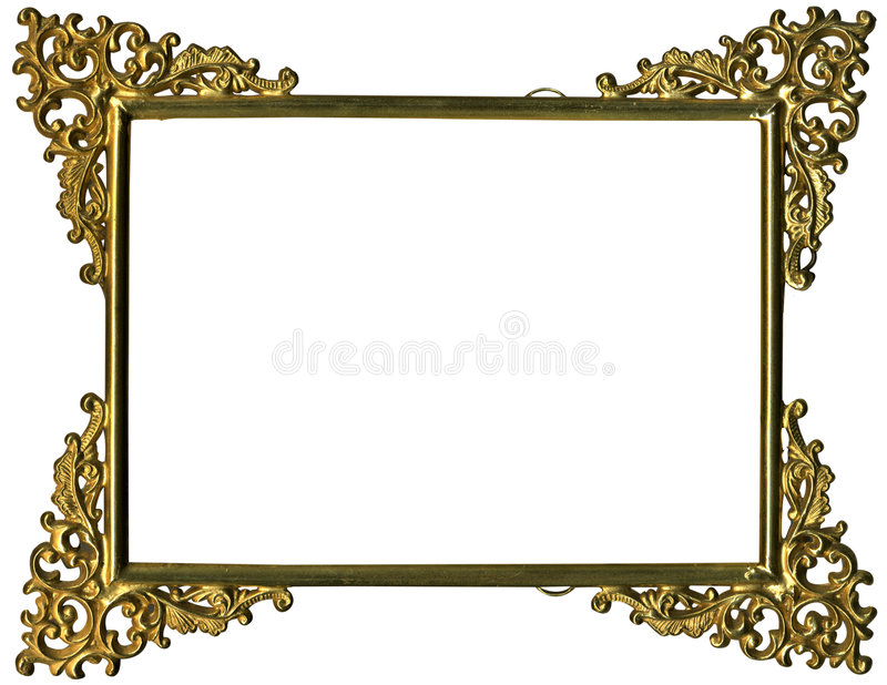 Antique gold frame w/complete work path royalty free illustration