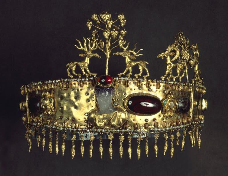 Antique gold jewelry stock photos