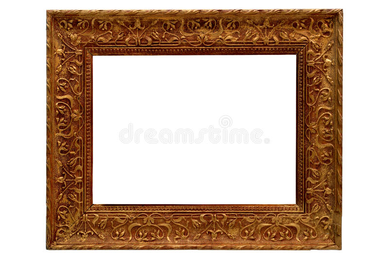 Famous Antique Gold Old Style Gilded Picture Frame Stock Photo - Image of  JE92