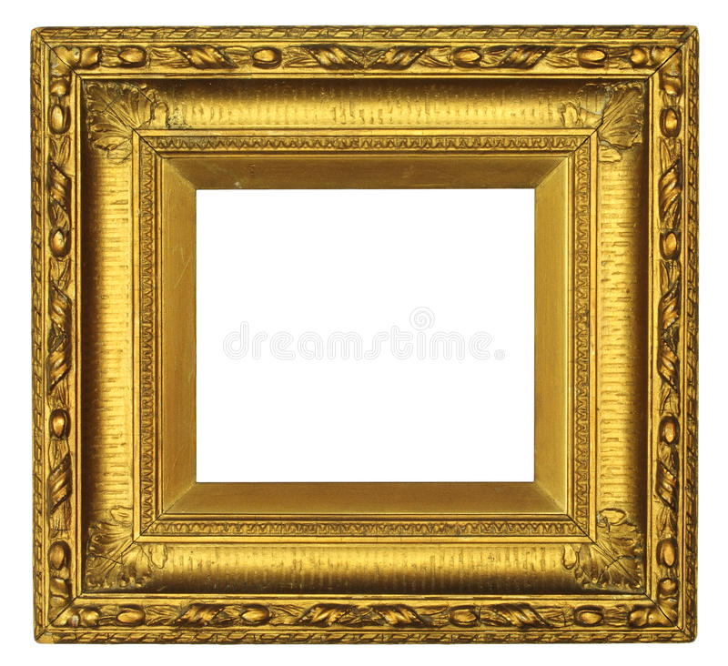Download Antique Gold Picture Frame stock image. Image of space - 24987125