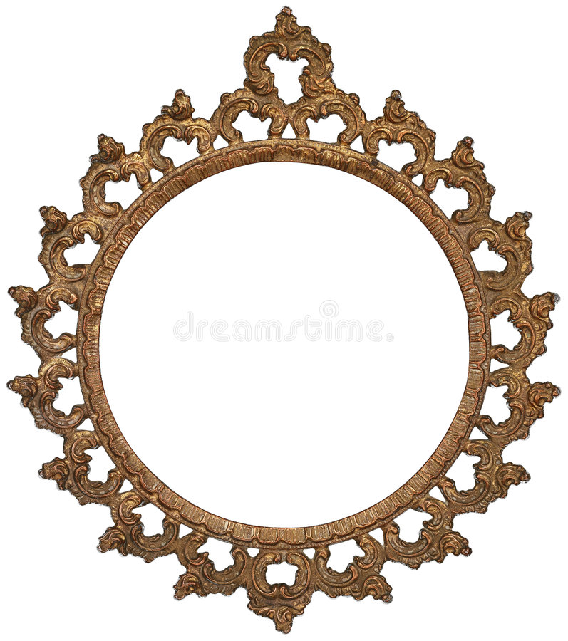 Download Antique Gold Picture Frame stock photo. Image of element - 8733918