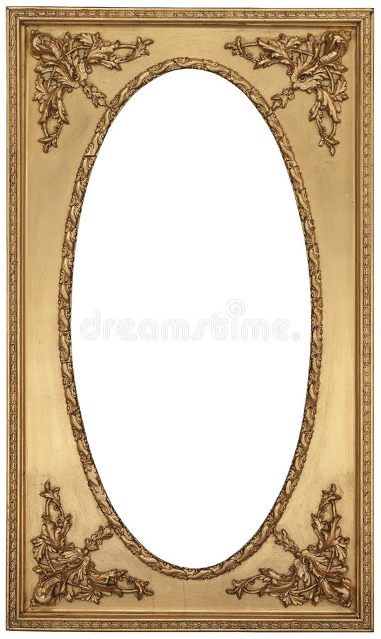 Download Antique Gold Picture Frame stock photo. Image of decorating - 8733982
