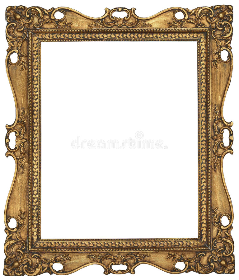 Antique Gold Picture Frame royalty free stock photography