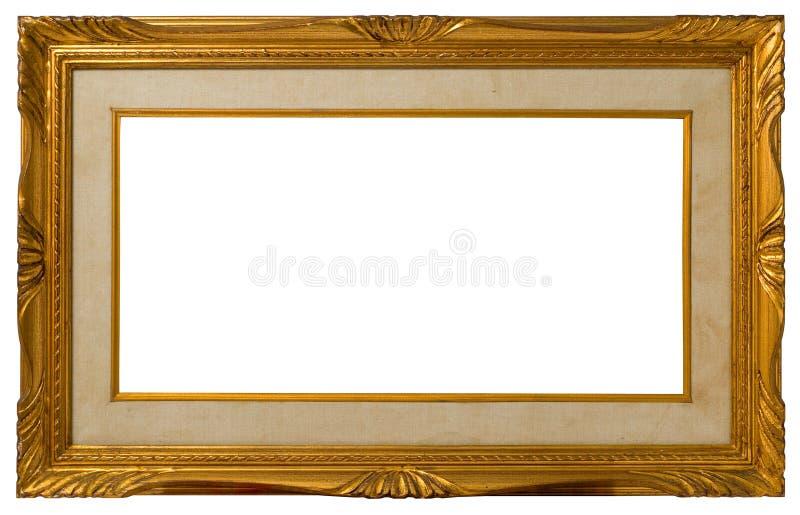 Antique golden frame. stock images