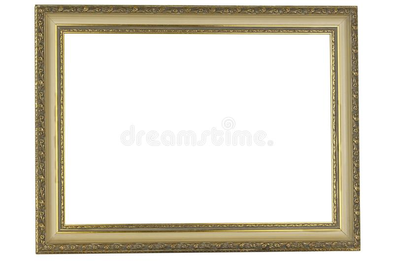 Antique golden frame stock photo