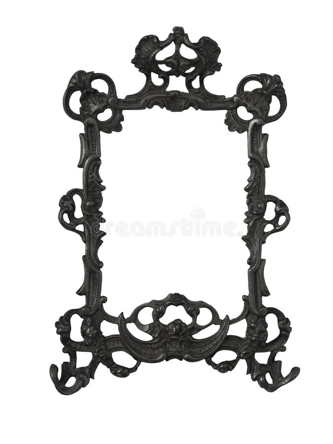 Antique golden frame isolated on white background with clipping path.European art stock photos