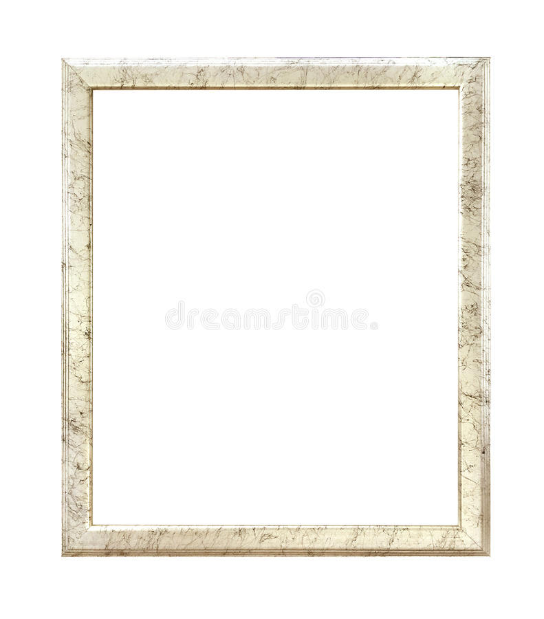 Antique golden frame isolated on white background with clipping path. royalty free stock images