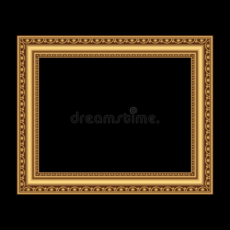 Antique Golden Frame Stock Vector