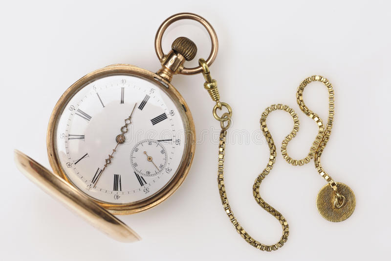 Antique Golden Pocket Watch royalty free stock photography