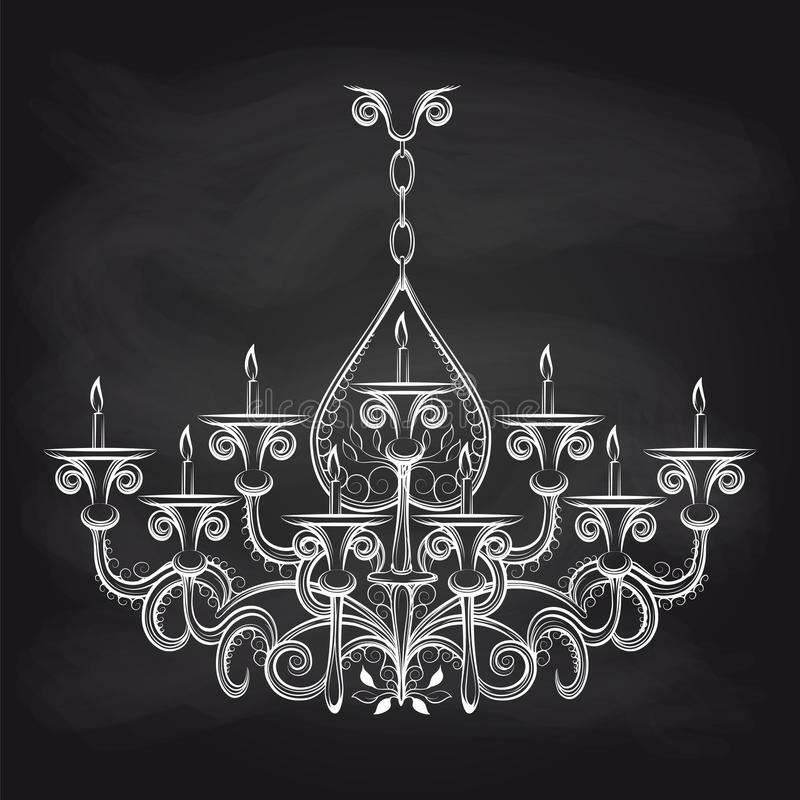 Antique gothic chandelier sketch on chalkboard stock vector download antique gothic chandelier sketch on chalkboard stock vector illustration of elegance glass mozeypictures Gallery
