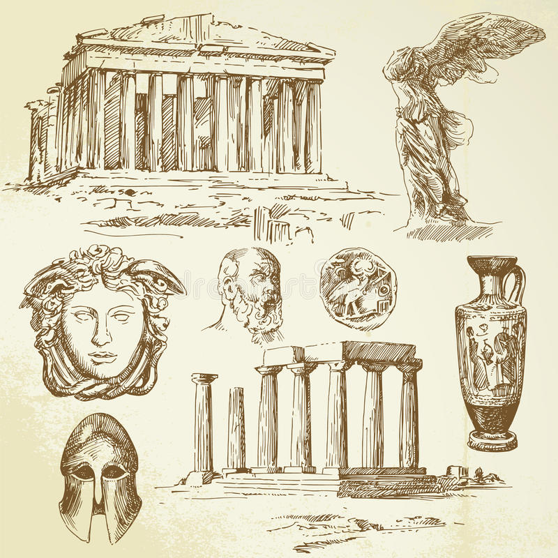 Antique greece vector illustration
