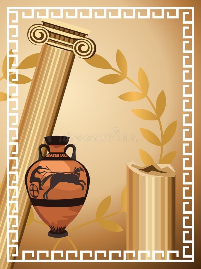 Antique Greek Symbols Royalty Free Stock Photo