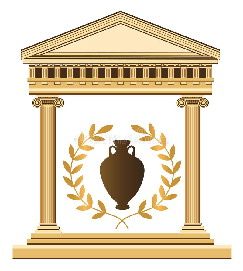 Antique Greek Temple royalty free illustration