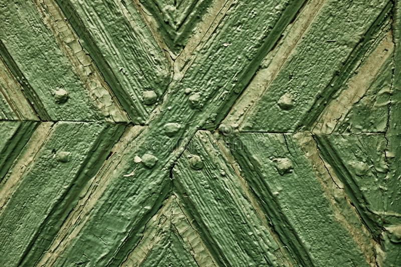 Antique green wooden texture of an old gate detail for background royalty free stock photography