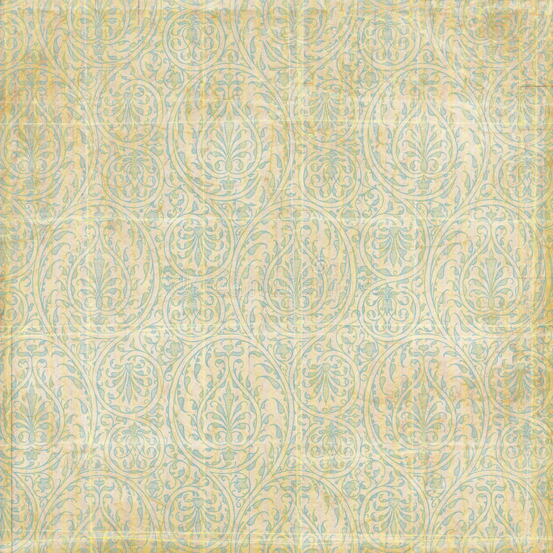 Antique grungy paisley damask background. Or scrapbook paper royalty free stock photography