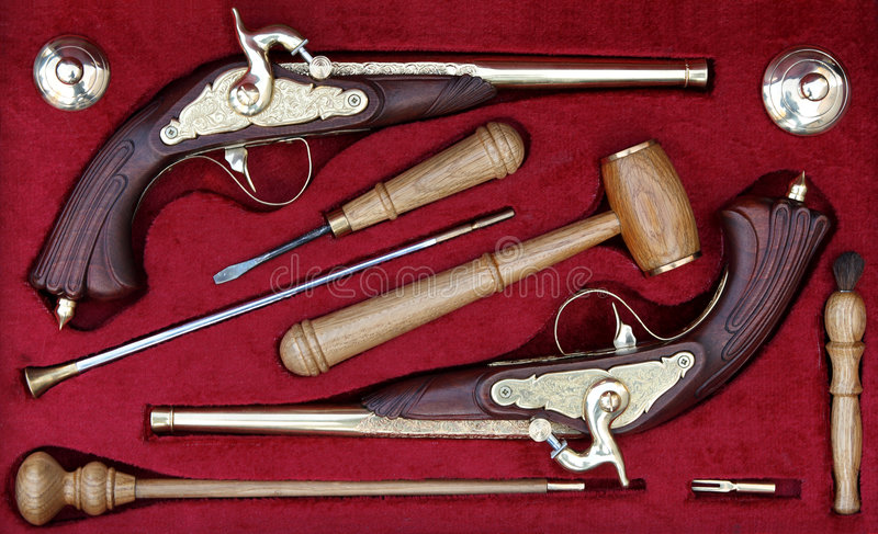 Download Antique guns stock image. Image of combat, fire, collection - 1359559