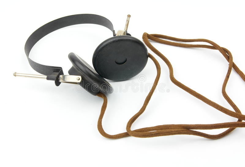 Antique headphones royalty free stock image